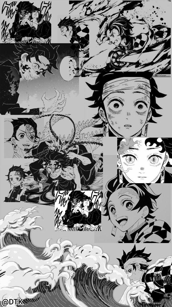 Tanjiro Wallpaper Black And White Anime Wallpaper Black And White Wallpaper Black And White Anime black and white wallpaper