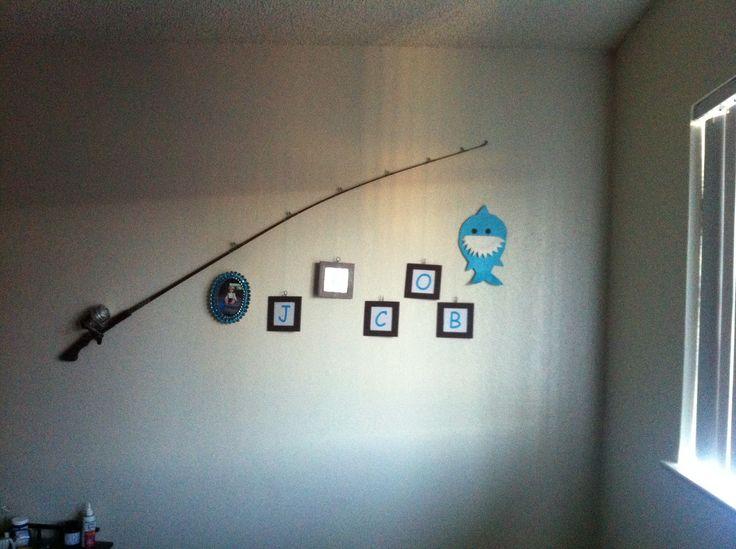 Fishing pole wall decor vintage fishing pole frames for Fishing pole decor