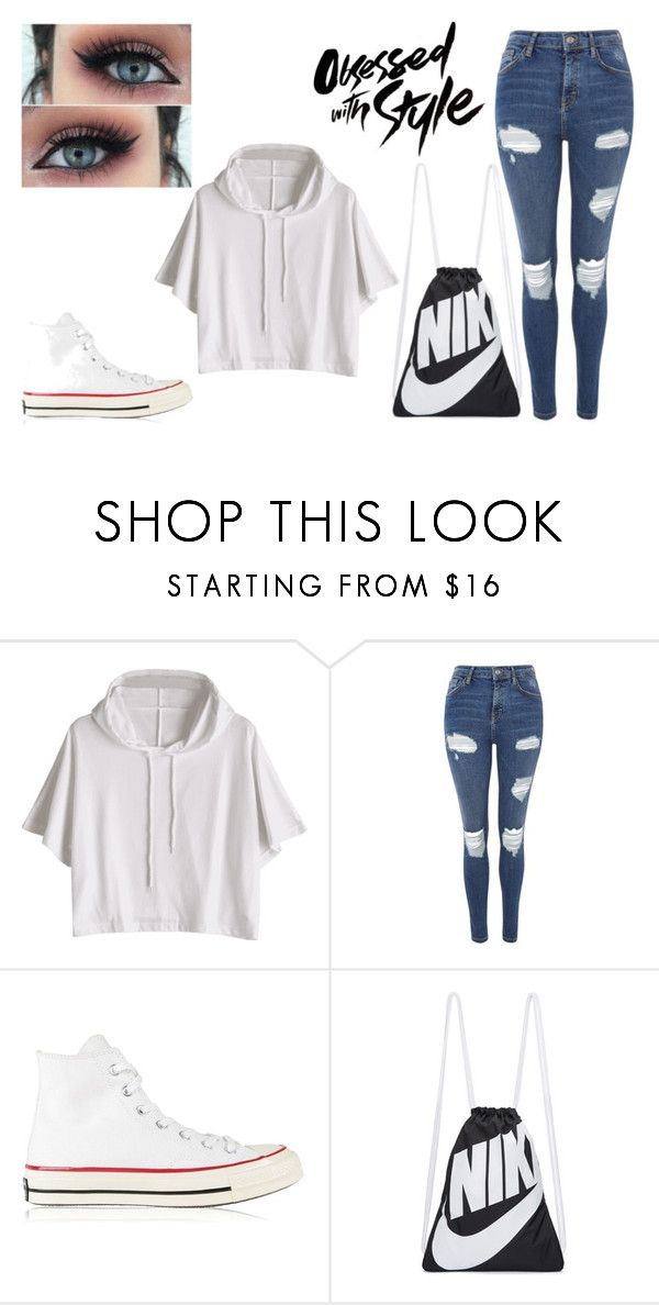 """Outfit Of The Day #7"" by pawlicki16 on Polyvore featuring Topshop, Converse and NIKE"