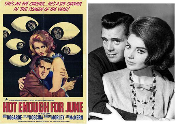 Sixties | Hot Enough For June (aka Agent 8 3/4), starring Dirk Bogard, Sylva Koscina, Robert Morley, Leo McKern, Noel Harrison, John Le Mesurier, Derek Nimmo and Derek Fowlds, 1964