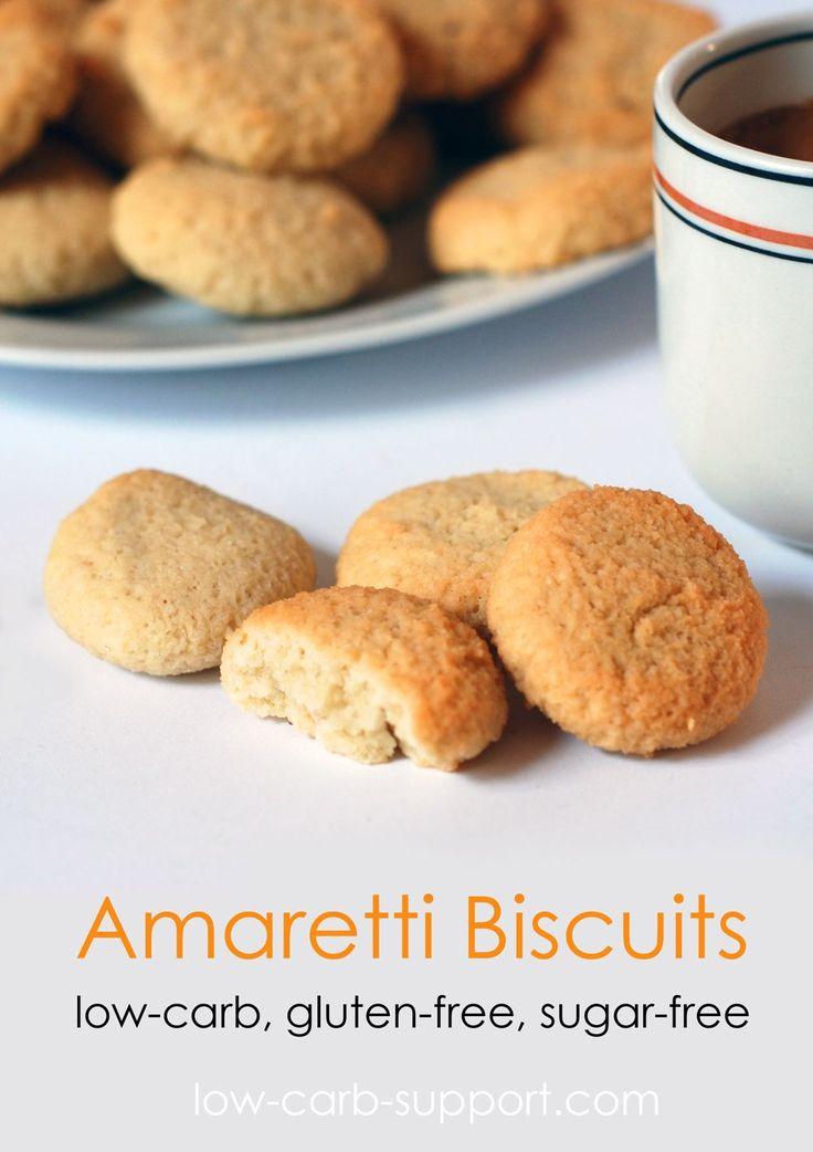 Low-carb amaretti biscuits, sugar-free, gluten-free