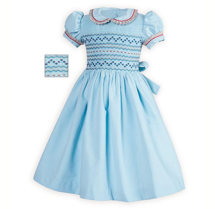 Traditional Toddler Girls Smocked Dress