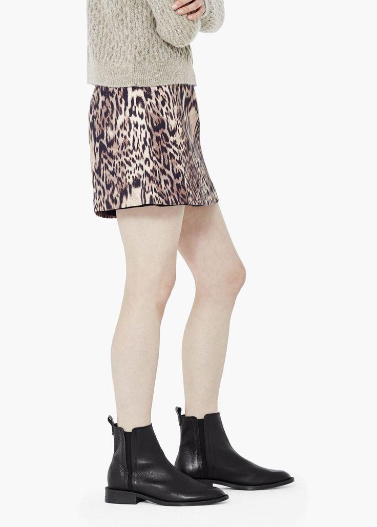 Леопардовая юбка хлопок - Юбки  - Женская | OUTLET Россия (Российская Федерация)