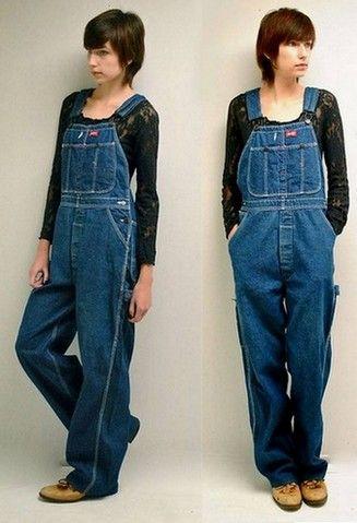 pour femme branchée, la salopette dickies en jeans , mode urbaine http://salopette.org