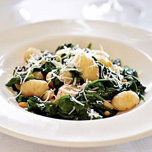 Brown butter gnocchi w/ spinach and pine nuts - still one of my favorite recipes (thanks to Celia)
