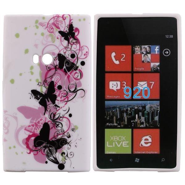 Symphony (Mustat Perhoset) Nokia Lumia 920 Silikonisuojus