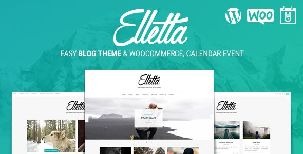 Elletta is a blog, magazine, events calendar and woocommerce theme. The package include the most popular plugins WP to convert website traffic into    lead and social sharing. Will increase your so...