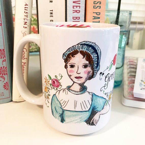 Jane Austen Gifts  coffee mug  Jane Austen  15oz