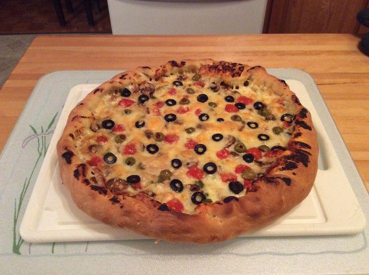 Pizza poulet et olives