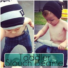 Max California: Tutorial: Toddler Slouch Beanie