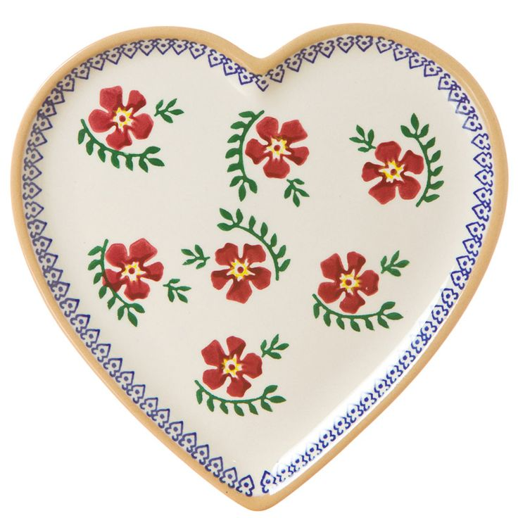 Old Rose Heart Plate by Nicholas Mosse ♥  Available at: http://www.standun.com/nicholas-mosse-old-rose-heart-plate.html