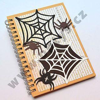 Výřez pavučina a pavouci  mix, 16 ks