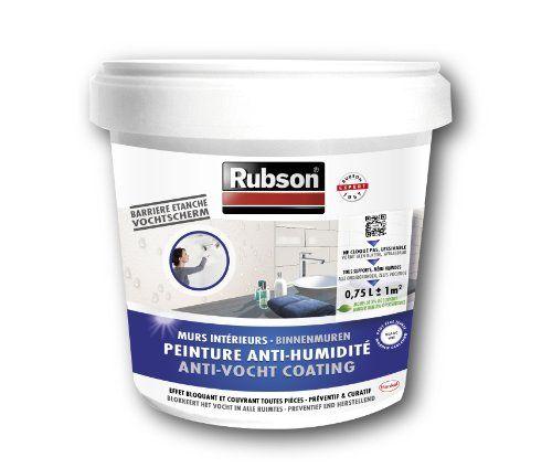 Rubson Stop Humidité Murs de Cave Blanc Pot plastique 0,75 L: Peinture étanche qui bloque l'humidité et empêche la prolifération des sels…