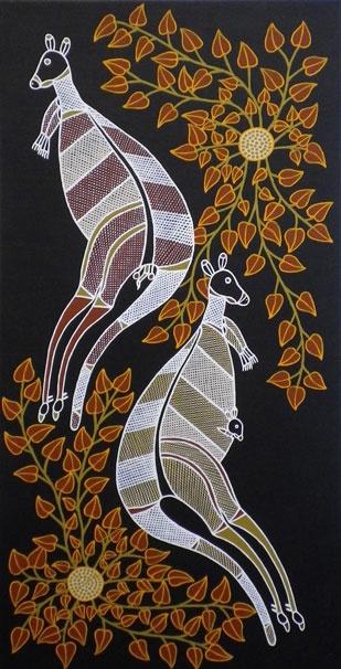 Aboriginal art...Kangaroos