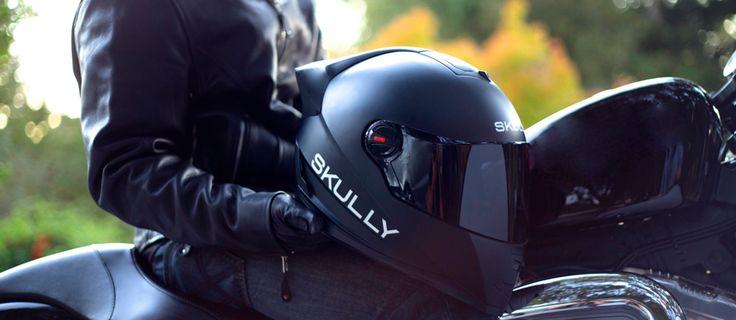 Skully, le casque moto avec affichage tête-haute intégré, GPS, caméra arrière…   {niKo[piK]}