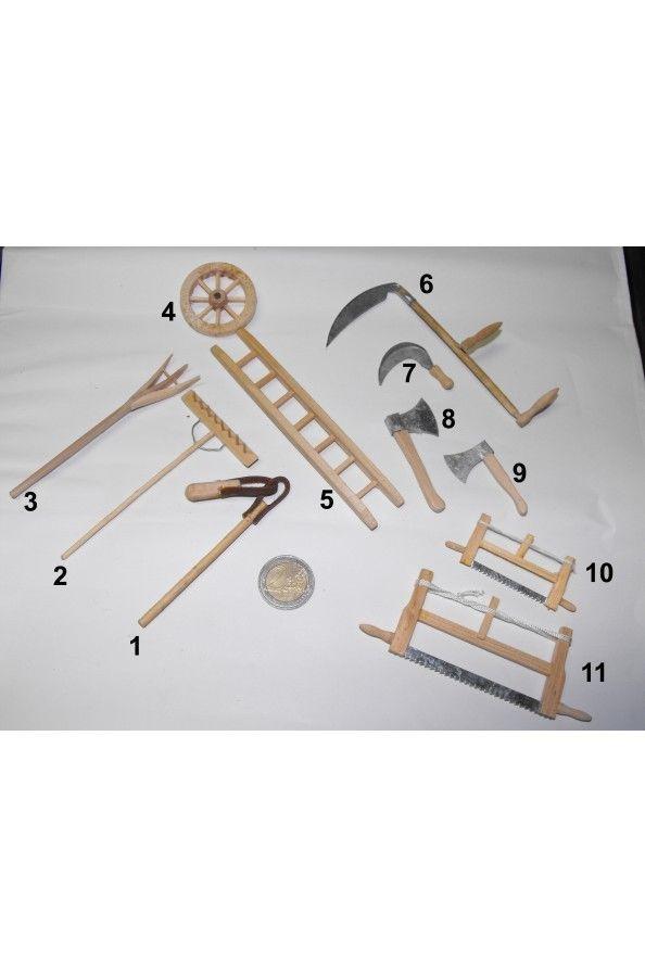 Accessori presepe contadino in legno: undici pezzi   eBay