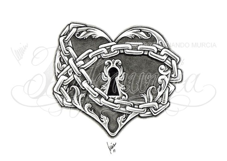 Heart lock and key 03 by dfmurcia.deviantart.com on @deviantART