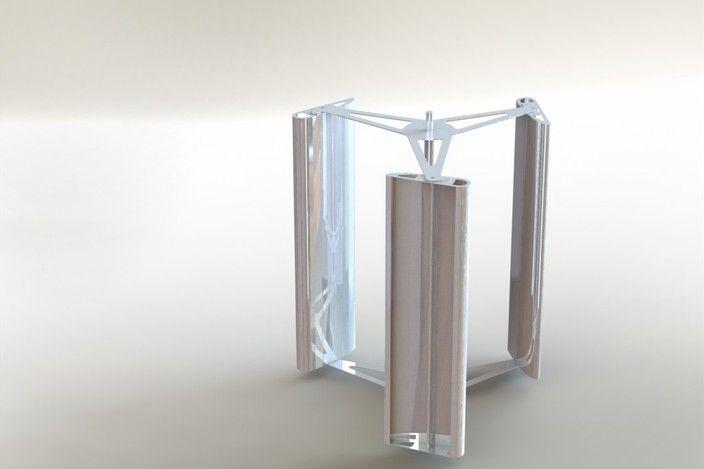 Vertical axis wind turbine - STEP / IGES, SOLIDWORKS - 3D CAD model - GrabCAD