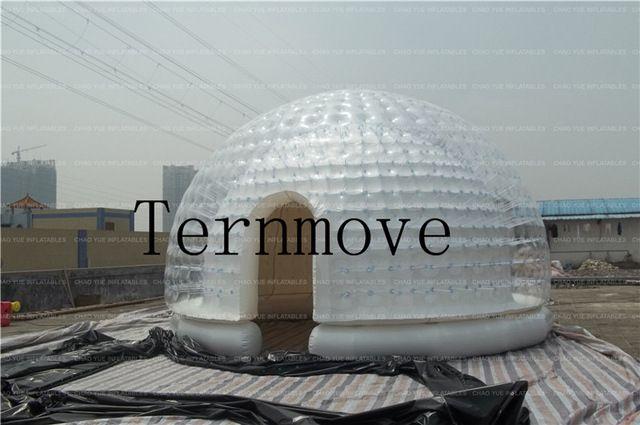 Inflable burbuja transparente habitación carpa Burbuja Inflable tienda de Campaña cúpula inflable sala de descanso
