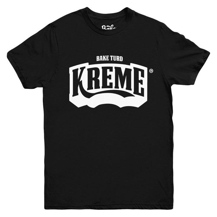 Mens Streetwear T-shirt Bake Turd® Kreme Limited Edition http://www.baketurd.com/product/bake-turd-kreme-black