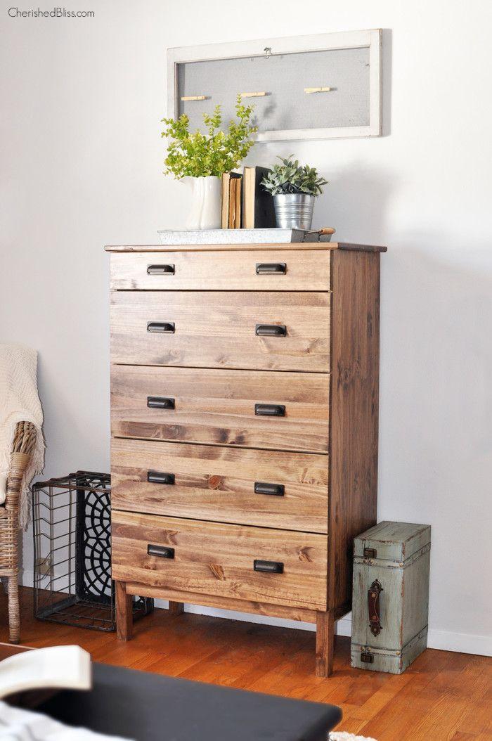 how to stain an ikea tarva dresser 2014 pinterest meuble palette commodes et palette. Black Bedroom Furniture Sets. Home Design Ideas