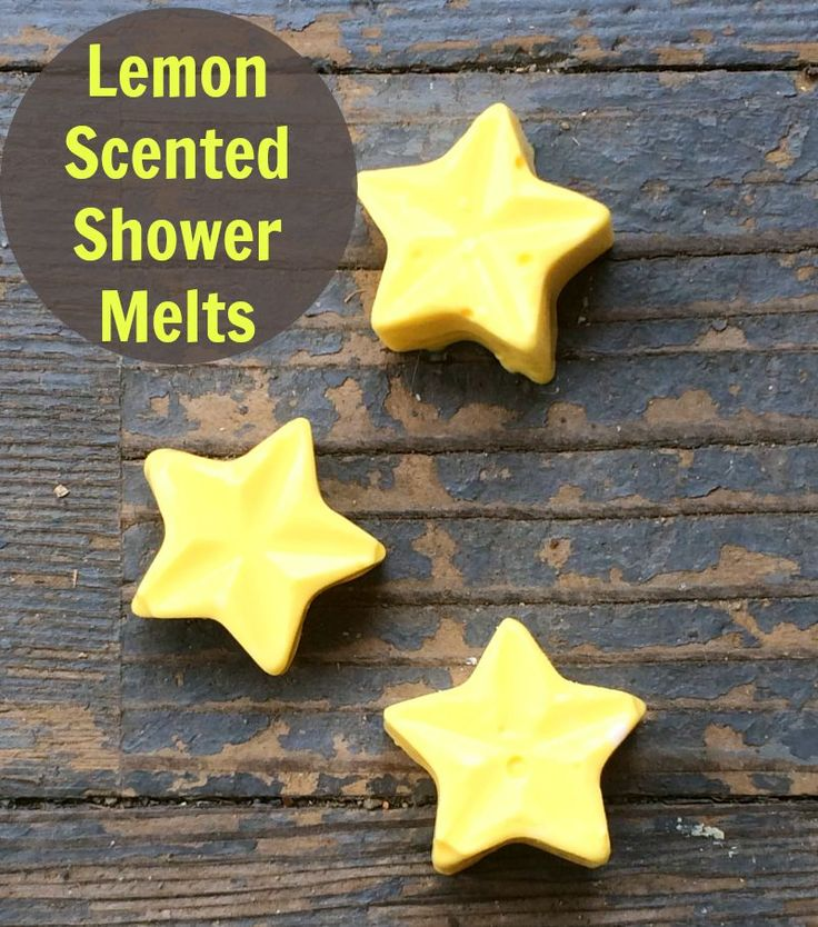 Lemon Scented Shower Melts- what a fun DIY natural beauty product to make for your kids or as gifts!