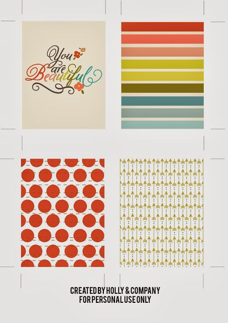 Free Project Life Cards to match Studio Calico. Filler Cards.