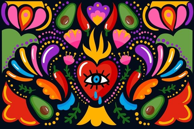 Wallpaper Corazones, Skull Crafts, Design Plano, Mexican Flowers, Mexican Embroidery, Floral Banners, Mexico Art, Flower Backgrounds, Backgrounds Free