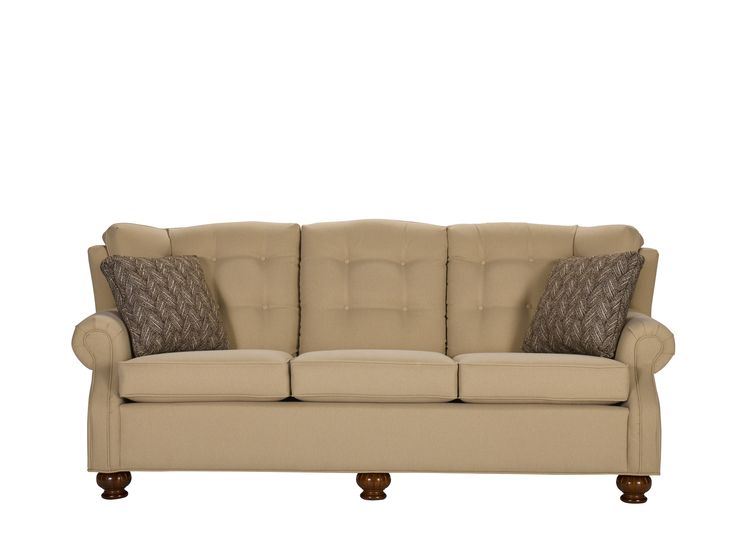 Beautiful Country Sofa In A Neutral Tan, Lancer Furniture