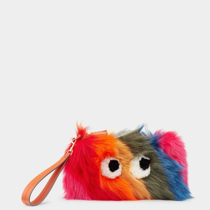 Creeper Shearling Clutch by Anya Hindmarch