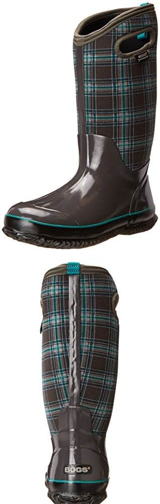 Bogs Womens Classic Winter Plaid Tall Waterproof Insulated Boot #Bogs
