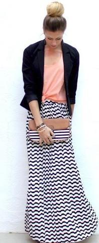 Black& White maxi skirt by Annick Gagnon :: fashion looks