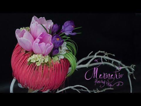 Флористика Как сделать каркас для букета #6 (Мастер класс) - YouTube