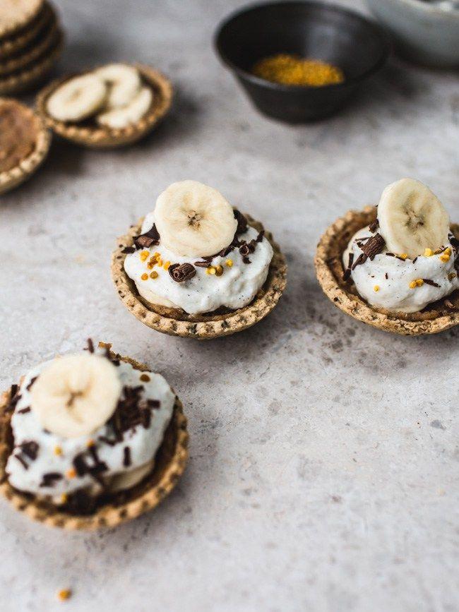 Banoffee Pie Bites Gf No Refined Sugar Vegan Option Ricotta Cream