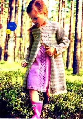 Розовое платье и пальто для девочки из Novita