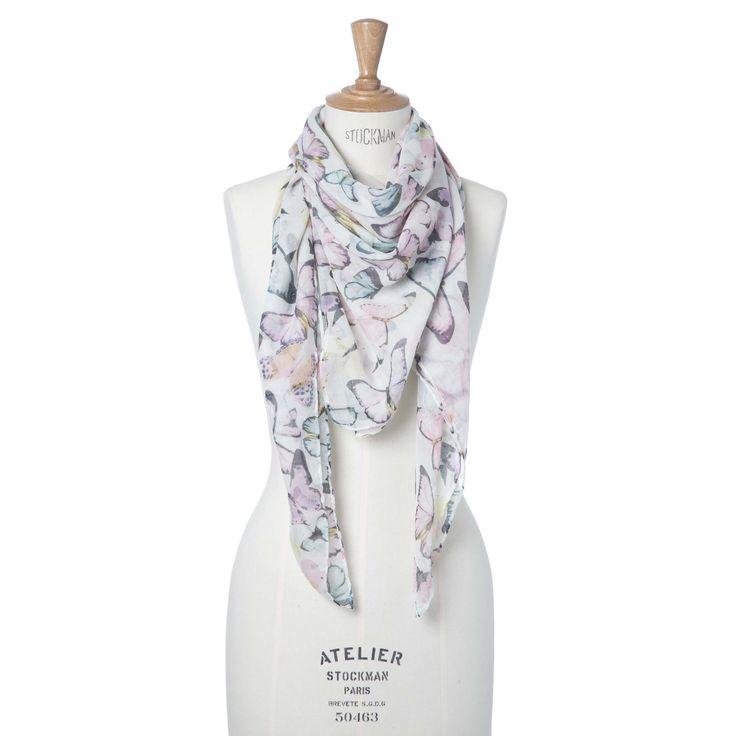 Vierkante sjaal met vlinders | Veritas