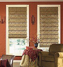 Bali Custom Tailored Tapestry Roman Shades - Floral Roman Shades by Bali.  $199.00. High