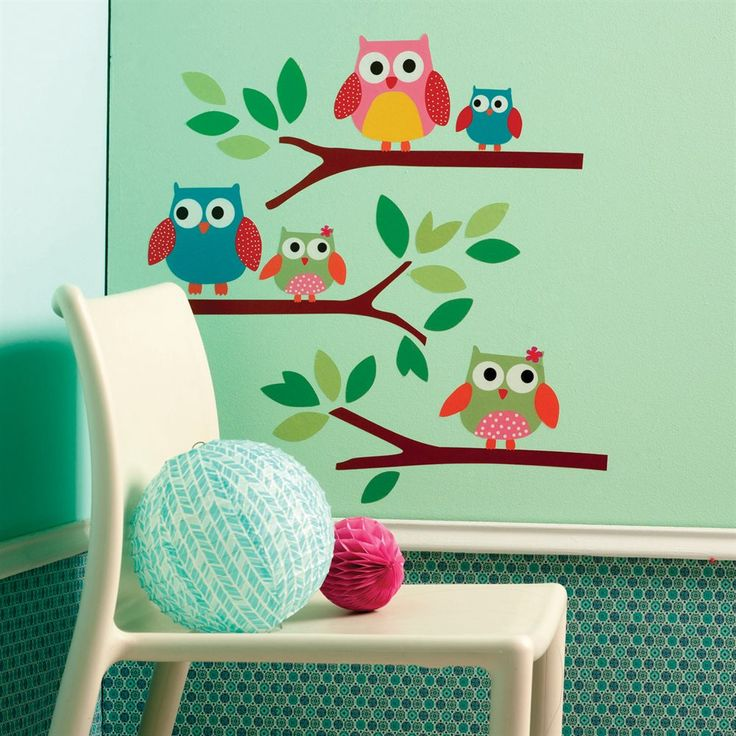 Wallies W12478 Owls Big Wall Stickers | ATG Stores