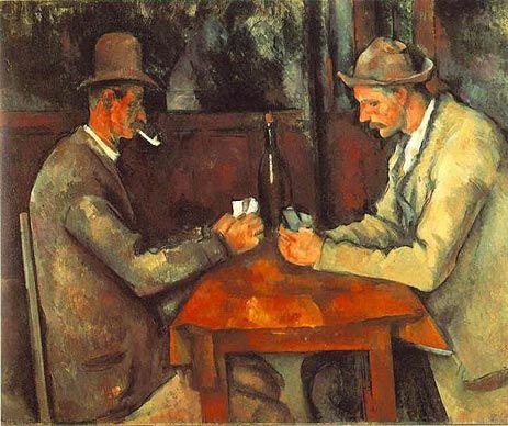 ポール・セザンヌ「カード遊びをする2人の男たち」