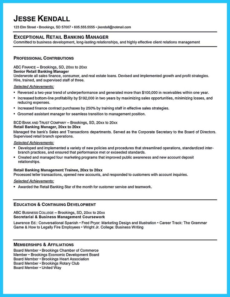 Banking Resume Examples Are Helpful Matters To Refer As You Are Confused To Write Your Ba Resume Objective Examples Resume Objective Statement Resume Objective