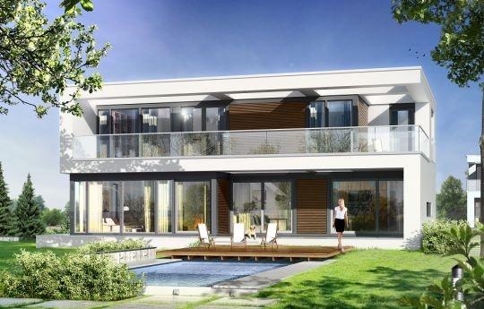 Projekt Willa Słoneczna to nowoczesna miejska willa. Dom przeznaczony jest dla cztero-sześcioosobowej rodziny. Nowoczesna piętrowa forma z płaskim dachem, została połączona z funkcjonalnym przemyślanym wnętrzem. Zasada kompozycji bryły budynku polega na maksymalnym otwarciu wnętrza domu na ogród, przy jednoczesnej minimalnej ekspozycji od strony frontowej.