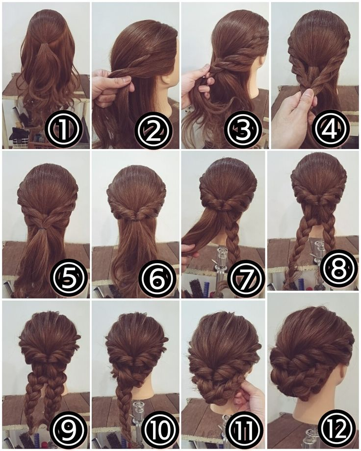 Hair braid bun