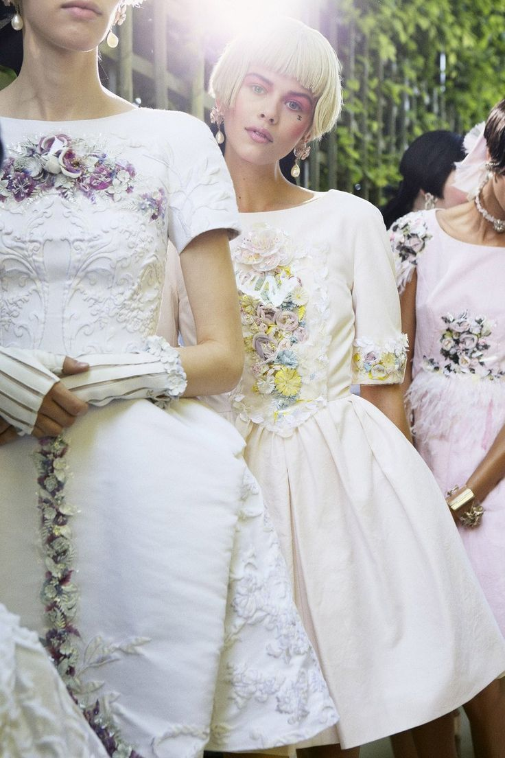 Oh the pouffy dresses! Backstage from Chanel Cruise 2012/13. Vouge UK.