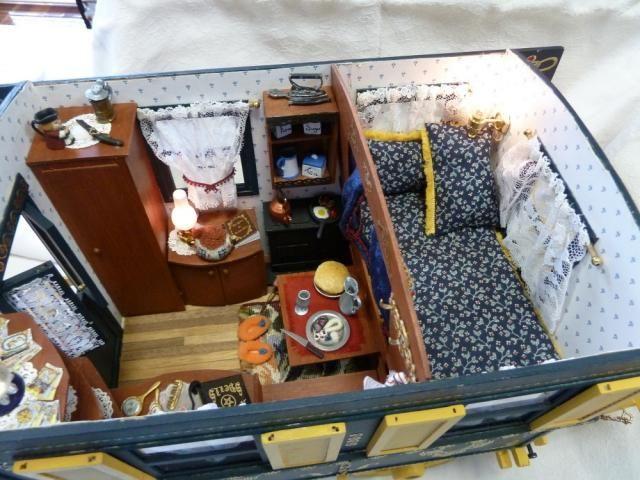 inside a gypsy wagon