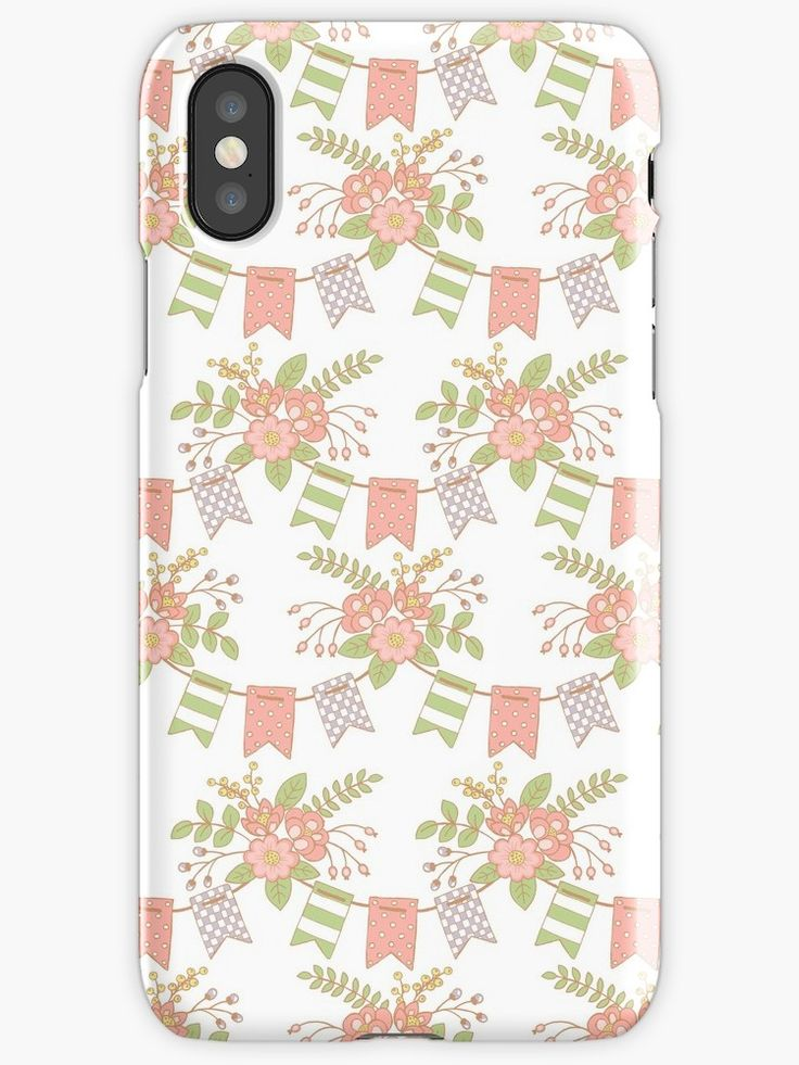 #peach #blossom #fresh #baby #Flowers #Floral #Springtime #Pastels #Flowery #soft #bloom #botanical #garden #Pennants #Mia #redbubble #spiral #iphonecase