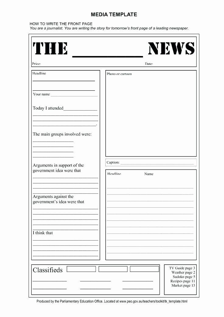 40 Free Editable Newsletter Templates Newspaper Template