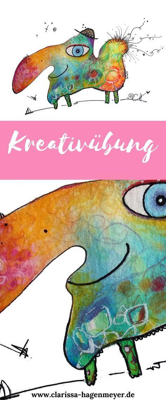 Eine kleine Kreativübung für dich: Lerne mit dem Oneliner frei aus dir heraus zu malen - ganz einfach!