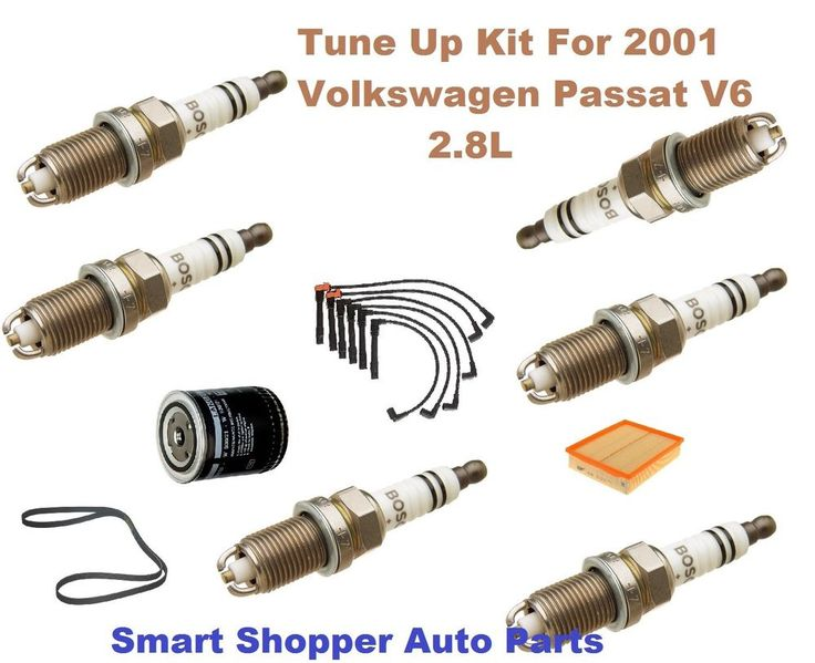 Special Gift can be custom for special dad. Tune Up Kit For 2001 Volkswagen Passat OE Spark Plug, Wire Set, Oil Filter, Belt #AftermarketProducts