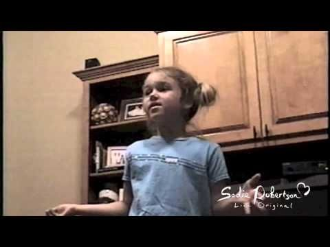 """Sadie Robertson as a child. """"And if I was famous I would still love the Lord."""" Most precious thing EVER"""