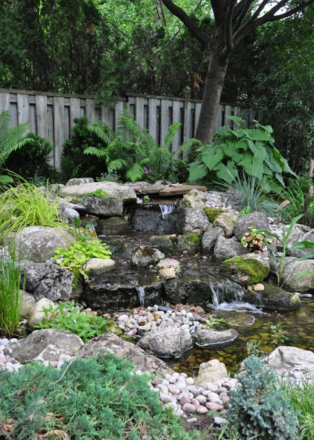 647 best images about wishing wells water gardens for Waterfall features for ponds